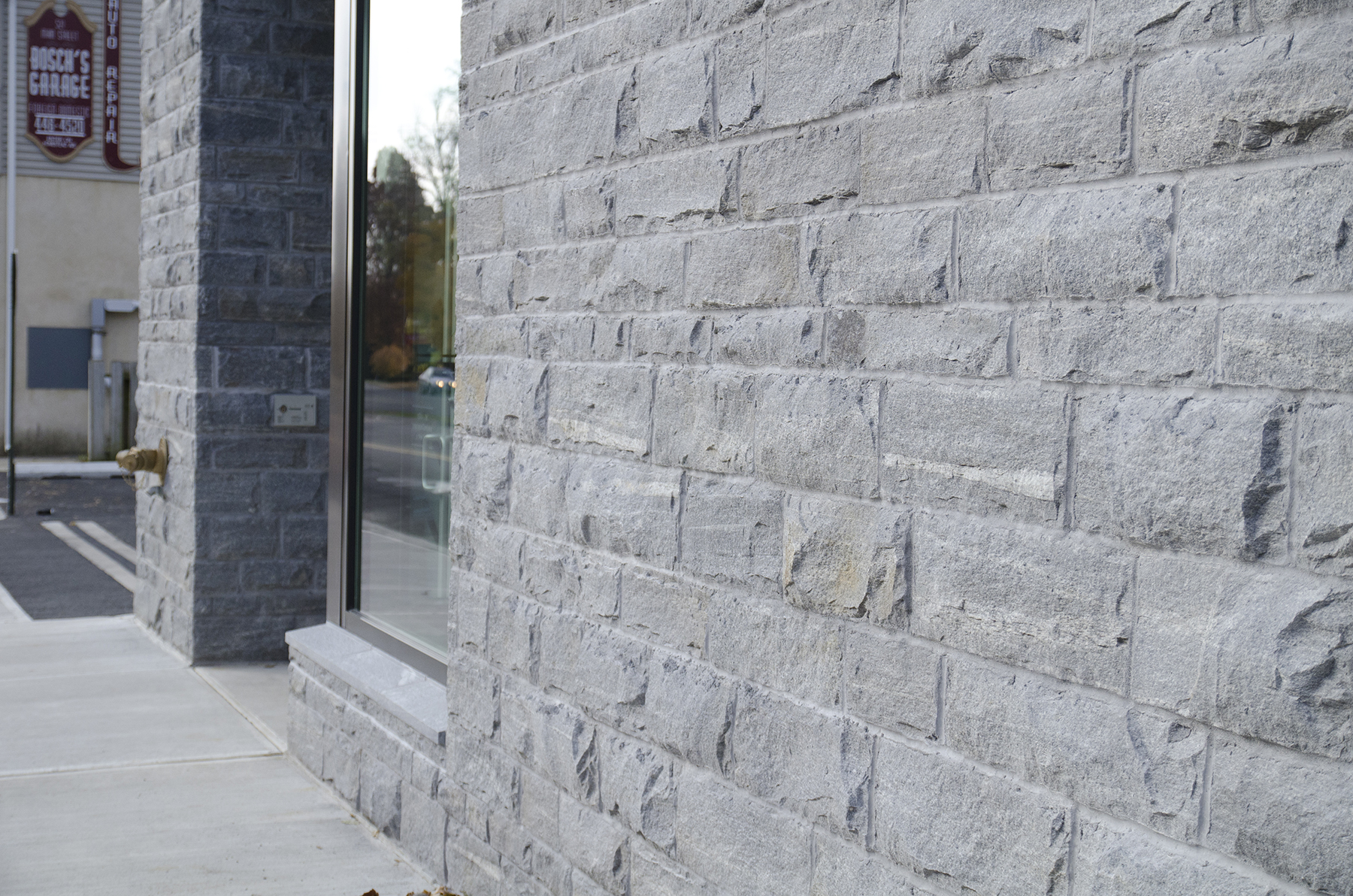 close up on stone exterior