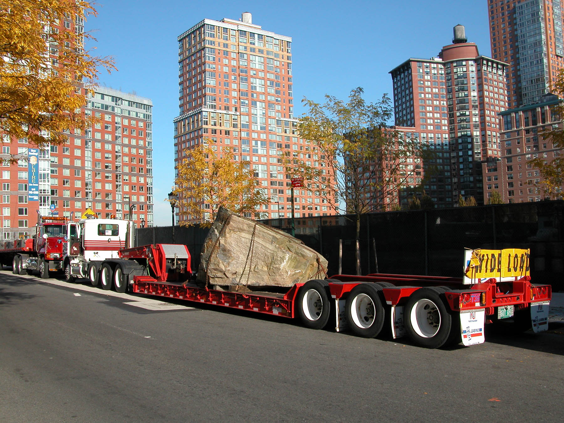 massive stone being transferred