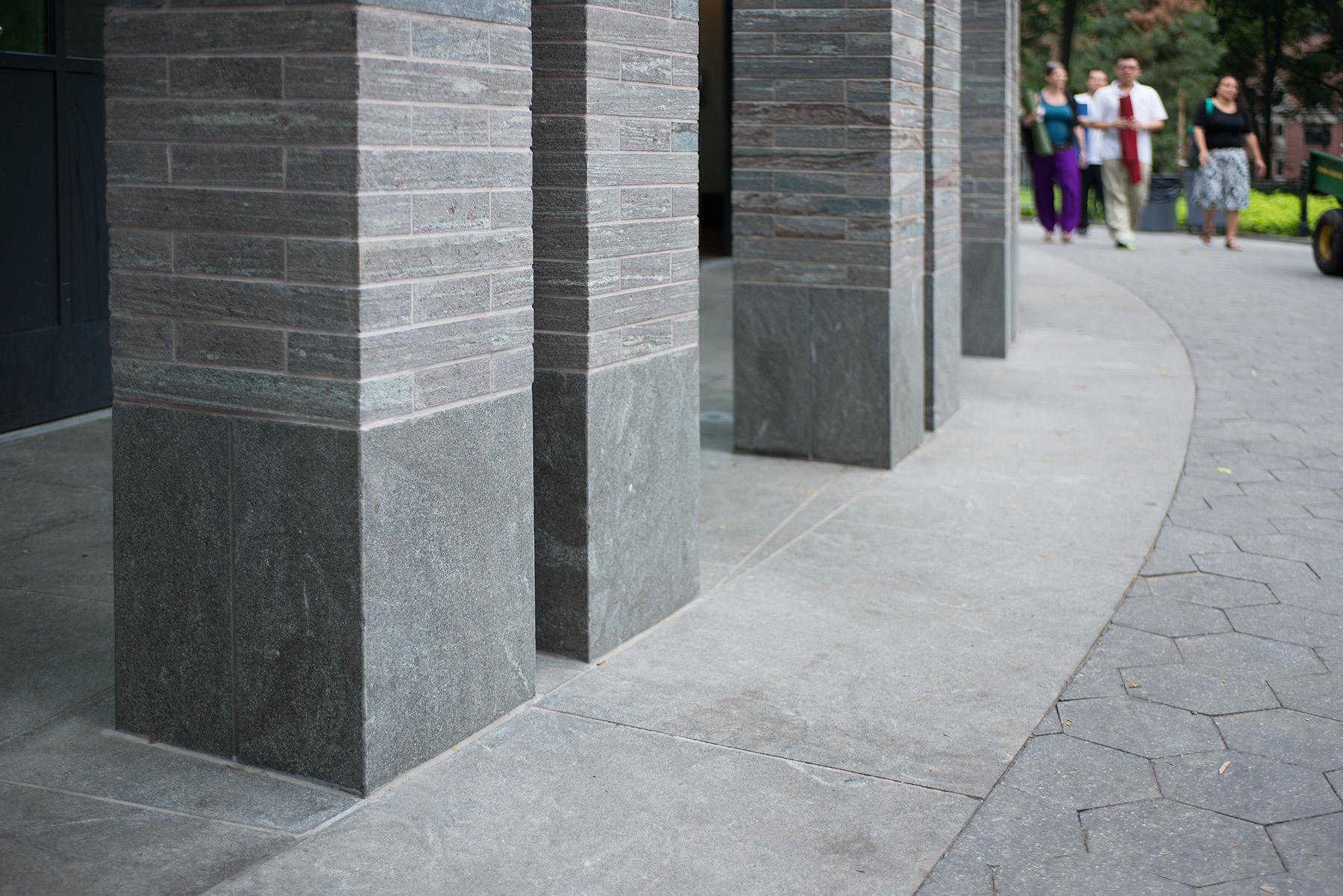 base of stone columns