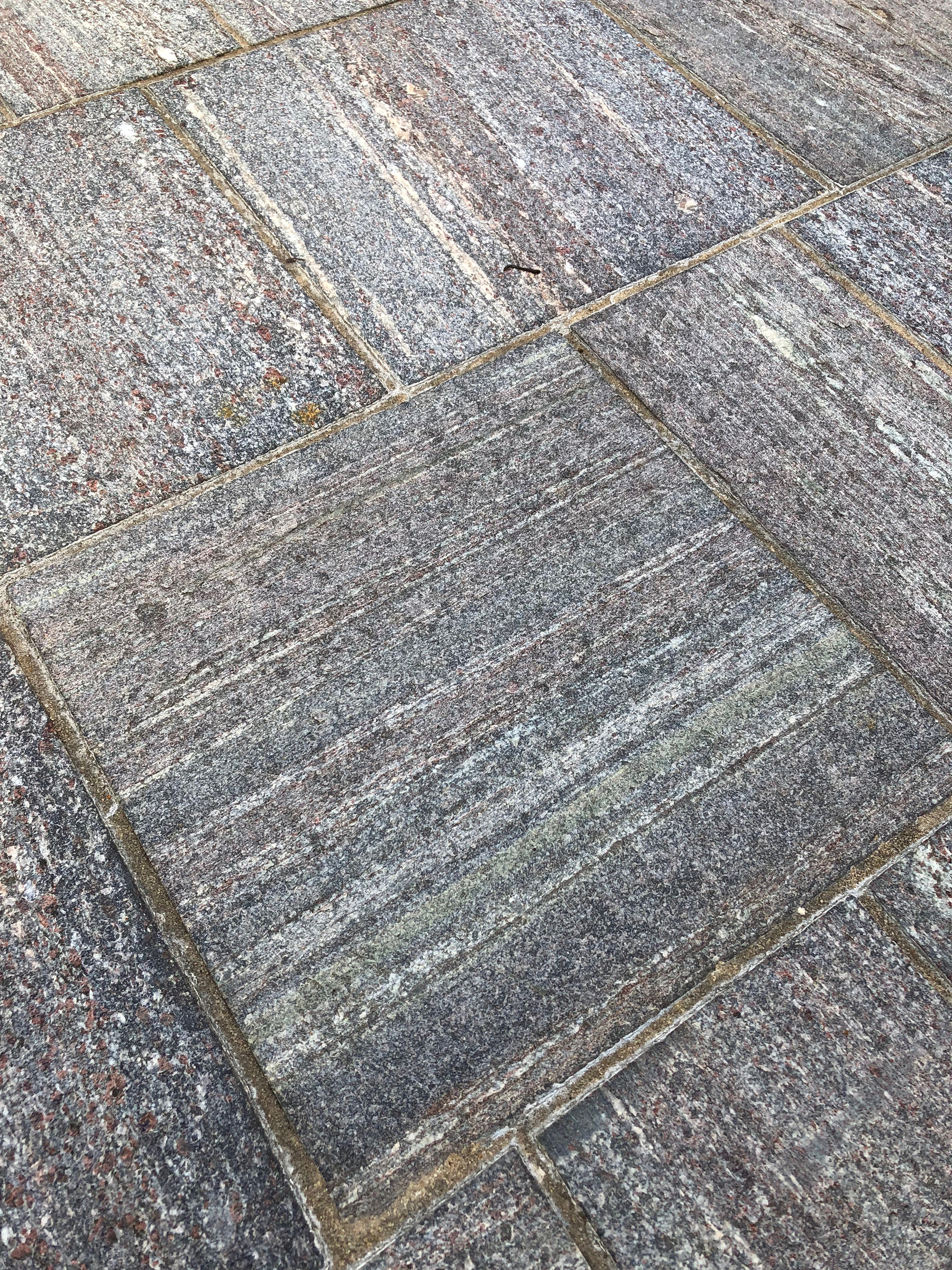 zoomed in sidewalk stone